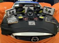 容桂马自达阿特滋汽车音响改装零点喇叭+四门笛神隔音,欧卡改装网,汽车改装