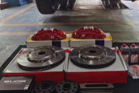 [沃尔沃XC60刹车改装]升级AP8520刹车卡钳,帅气灵敏制动,欧卡改装网,汽车改装