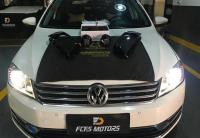 广州大众迈腾车灯改装PDK LED双光透镜+更换灯罩,欧卡改装网,汽车改装