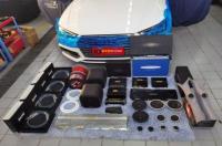 佛山奥迪A4L汽车音响改装英国创世纪完美系列三分频喇叭,欧卡改装网,汽车改装