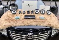 云浮丰田凯美瑞汽车音响改装洛克力量三分频喇叭,欧卡改装网,汽车改装