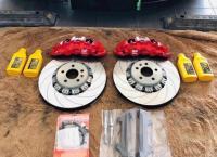 [特斯拉Model 3刹车改装]AP8520大六刹车卡钳,强劲制动,欧卡改装网,汽车改装