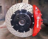 [宝马5系刹车改装]Brembo V6大六刹车卡钳,帅气制动,欧卡改装网,汽车改装