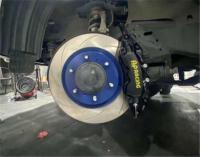 [霸道刹车改装]普拉多刹车升级AP9040大六刹车卡钳套件,欧卡改装网,汽车改装