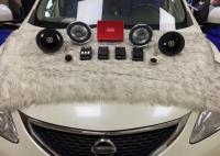 呼和浩特汽车音响改装日产骐达改装漫步者PF651套装喇叭,欧卡改装网,汽车改装