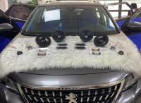 呼和浩特汽车音响改装标致4008改装漫步者NF651B套装喇叭,欧卡改装网,汽车改装