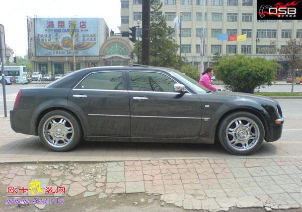 克莱斯勒300C 20寸轮毂改装,欧卡改装网,汽车改装