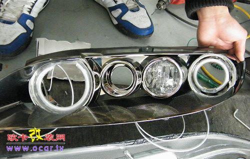 马自达6改装天使眼,欧卡改装网,汽车改装