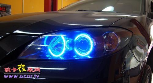 马自达3天使眼改装,欧卡改装网,汽车改装