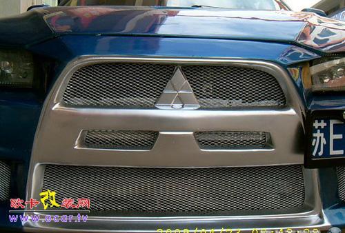 深蓝色的菱帅改装升级变身十代EVO,欧卡改装网,汽车改装