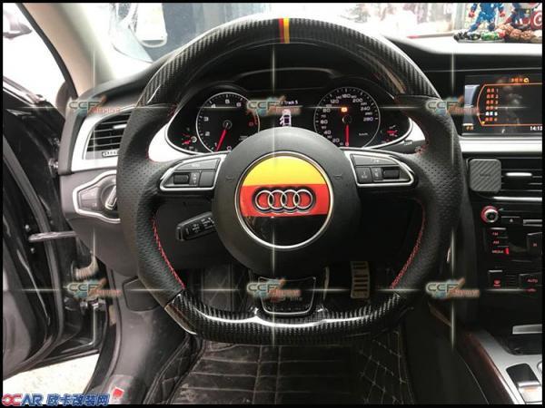 奥迪a4 改装力爽高性能点火 碳纤运动方向盘