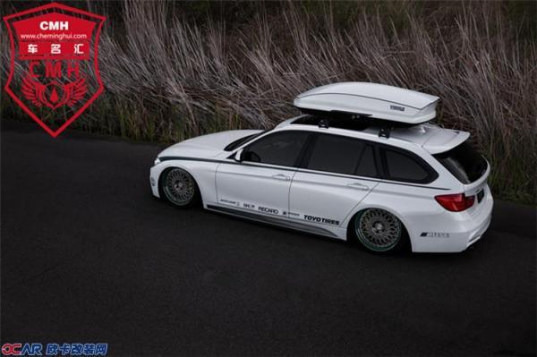 新款宝马3系旅行版改装碳纤尾翼