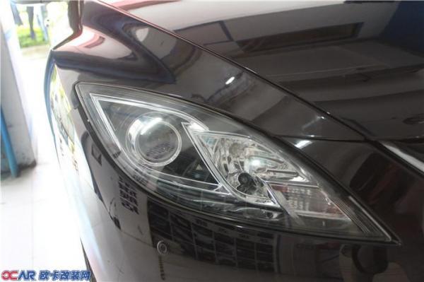 马自达睿翼改装氙气灯,LED大灯高清图片