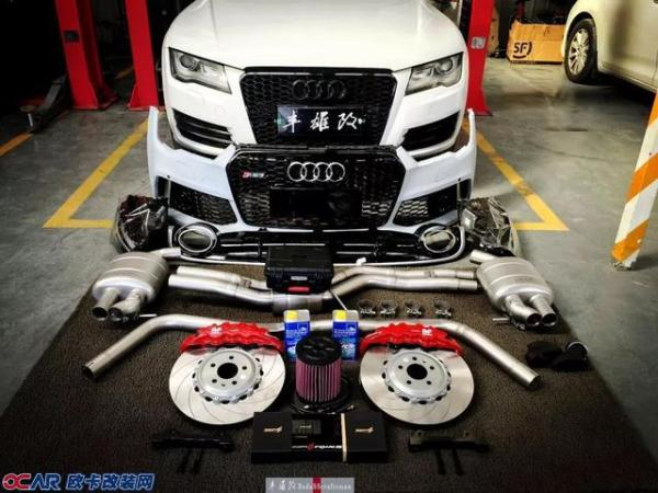奥迪A7改装RS7包围 进排气 AP刹车 ECU升级 汽车动力升级