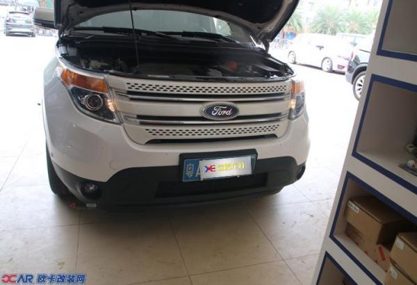 广州福特探险者汽车灯光升级改装q5双光透镜氙气灯