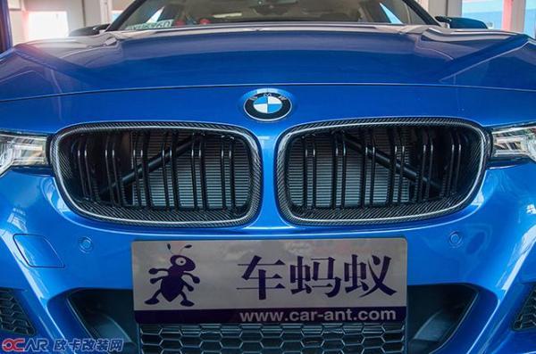 宝马3系m运动改装碳纤维前后唇与四出排气