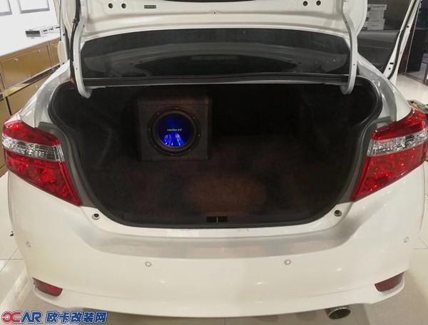 丰田威驰汽车音响改装四分频喇叭