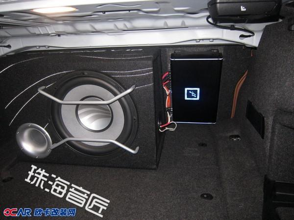 新款宝马3系无高音单元的音响系统改装