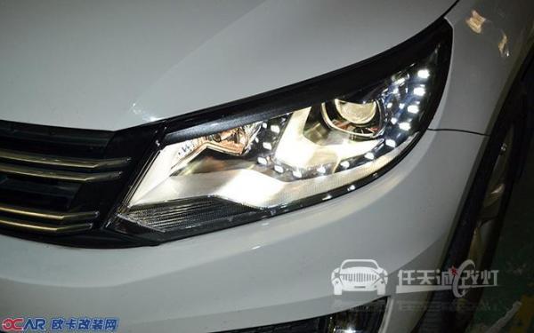 武汉大众途观车灯改装专用日行灯内芯 原厂q5透镜 商包飞利浦d1s灯泡