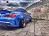 奔驰CLA45 AMG改装宽体大包围轮眉叶子板 奔驰W117改装包围尾翼,欧卡改装网,汽车改装