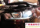【广州海澜车灯】-奥迪A1改精刚Q5双光透镜+红色恶魔眼,欧卡改装网,汽车改装