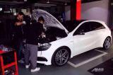 Benz A45 升级Armytrix 全段蓝牙App控制阀门排气,欧卡改装网,汽车改装