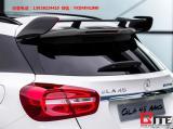 奔驰GLA45尾翼碳纤维大包围后唇排气管尾翼,欧卡改装网,汽车改装