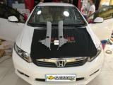 思域汽车音响改装美国金凤凰R65CS 郑州卡卡汽车音响,欧卡改装网,汽车改装