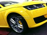 新款TT升级前Brembo GT6活塞刹车后加刹车盘,欧卡改装网,汽车改装
