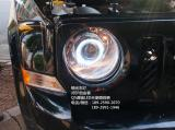 JEEP自由客升级Q5透镜白色天使眼,欧卡改装网,汽车改装