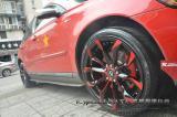 大爱五星红旗 沃尔沃S40黑色红面轮毂,欧卡改装网,汽车改装