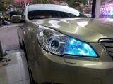 12年斯巴鲁傲虎大灯升级精刚KUS双光透镜,欧卡改装网,汽车改装