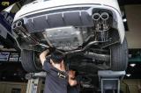 奥迪A4L B9 安装 RES中尾段四出排气,欧卡改装网,汽车改装
