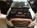 现代IX35音响改装案例,欧卡改装网,汽车改装