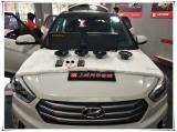 现代ix25无损升级美国卡顿两分频音响,欧卡改装网,汽车改装