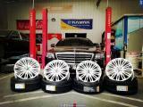 【FX轮毂】奔驰S350换装迈巴赫S500轮毂 新车落地低调升级  陕西丰雄汽车改装,欧卡改装网,汽车改装