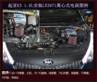 起亚K3提升动力改装键程离心式电动涡轮增压器LX3971,欧卡改装网