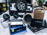 【Jeep 牧马人改装案例】德国彩虹两分频,美国捷力超低音,欧卡改装网,汽车改装