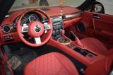 马自达MX-5汽车内饰翻新改装包皮真皮座椅门板中控包皮,欧卡改装网,汽车改装