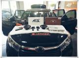丰田汉兰达无损改装德国RS音符三分频音响,欧卡改装网
