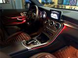 奔驰GLC氛围灯原厂三色升级12色 低调奢华提升车内氛围,欧卡改装网