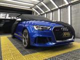 汽车漆面光亮如新,奥迪RS3贴XPEL隐形车衣,欧卡改装网,汽车改装