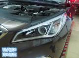 现代索9原车氙气灯,近光改灯GTR透镜,大灯氙气灯改灯,欧卡改装网,汽车改装