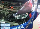 本田思域原车近光氙气灯改灯,近光大灯升级GTR透镜。,欧卡改装网,汽车改装