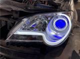 大众宝来车灯升级海拉双透镜 光岛天使眼 恶魔眼 双色日行灯,欧卡改装网,汽车改装