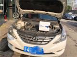 索纳塔8 车灯升级米石LED双光透镜 远光加LED h7灯泡,欧卡改装网,汽车改装