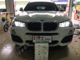 宝马X4车灯改装升级GTR双光透镜氙气灯、LED双光透镜大灯,欧卡改装网,汽车改装
