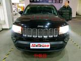 jeep指南者改灯 改远近一体LED大灯 聚光照路亮度高,欧卡改装网,汽车改装