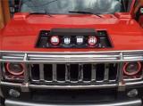 悍马H2改装引擎盖座灯发动机盖灯透镜大灯,欧卡改装网,汽车改装