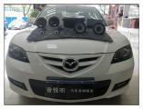 昆山汽车音响改装 马自达3安装意大利史泰格音响,欧卡改装网,汽车改装